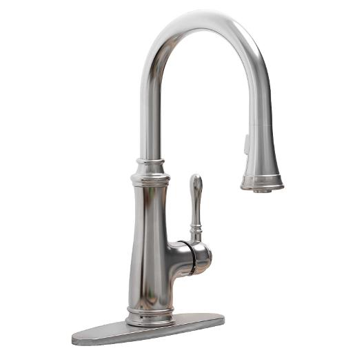 Wolverine Brass 81501 Timeless Pull Down Kitchen Faucet In Chrome