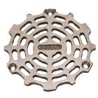 "4-5/8"" OD Round Floor Drain Grate Sand Cast Nickel"