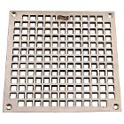 "6-9/16"" OD Bronze Square Grate with Screws Nickel"