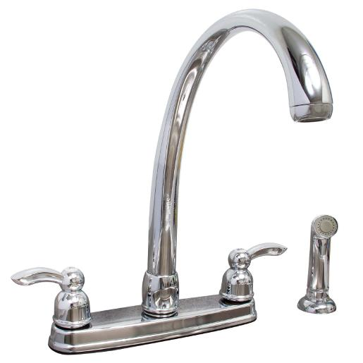 Wolverine Brass Esk7340 Essence Two Handle Kitchen Faucet With Side Spray In Chrome